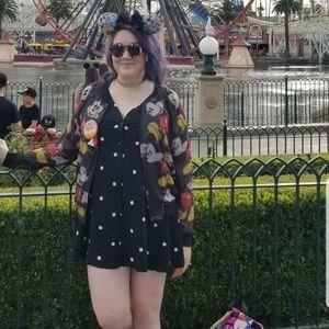 Motel Rocks Button Down Polka Dot Mini Dress